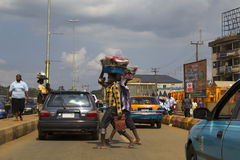 People trading in Lagos, Nigeria Royalty Free Stock Images