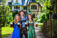 People in traditional bavarian tracht Royalty Free Stock Photo