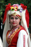 People in traditional folklore costumes Stock Image