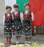 People in traditional folklore costumes Stock Photography