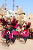 Dogon ritual dance with masks, Mali, Africa Stock Photo