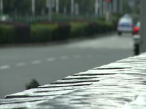 People, traffic and architecture of Shanghai city stock footage