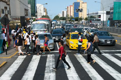 People, Traffic, Lima Peru Travel. Royalty Free Stock Image