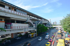 People on the Traffic road in Bangkok Thailand Royalty Free Stock Images