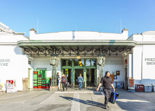 People at train station Friedensbruecke in Vienna Stock Photography