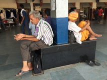 People at train station in India Royalty Free Stock Photos