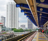 People at the train station in Kuala Lumpur, Malaysia.  Stock Images