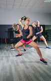 People training boxing in a fitness center Royalty Free Stock Image