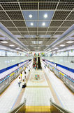 People transiting Sun Yat-sen station, Taipei Royalty Free Stock Photo
