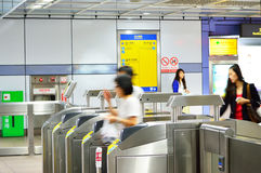 People transiting Sun Yat-sen station, Taipei Stock Photography