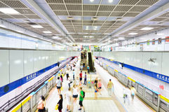 People transiting Sun Yat-sen station, Taipei Royalty Free Stock Images