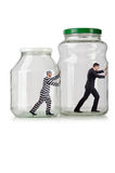 The people trapped in the glass jar Royalty Free Stock Image