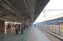 Agra train railway station India. People travel at Agra Cantt railway station in Agra India Stock Photo