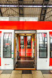 People travel at Alexanderplatz subway station in Berlin Stock Photography