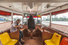 People travel by boat in Bangkok, Thailand Royalty Free Stock Photo