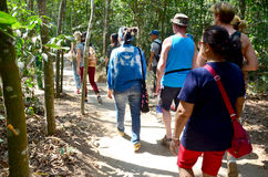 People travel at Cu Chi tunnels Stock Photo
