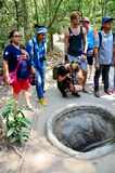 People travel at Cu Chi tunnels Stock Images