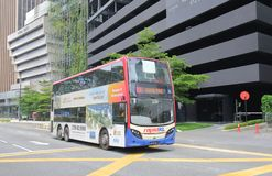 Bus public transport Kuala Lumpur Malaysia. People travel by double decker bus in Kuala Lumpur Malaysia stock photography