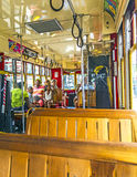 People travel with the famous old Street car St. Charles line Stock Images