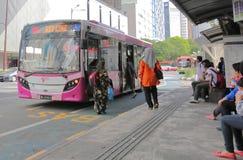Bus public transport Kuala Lumpur Malaysia. People travel by GOKL bus in Kuala Lumpur Malaysia royalty free stock photography