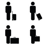People travel icon art  Royalty Free Stock Photo