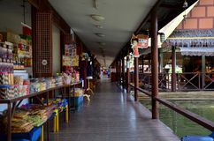 People travel and shopping at Thung Bua Chom floating market Royalty Free Stock Photo