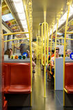 People Travel By Subway Train In Downtown Vienna Royalty Free Stock Photos