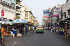 People travel and walking Khaosan Road Royalty Free Stock Photography