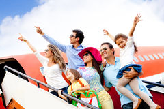 People traveling by airplane Royalty Free Stock Image