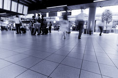 People traveling at  airport Royalty Free Stock Images