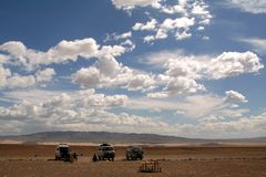 People traveling around mongolia Stock Images