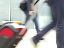 Airport travel blur Royalty Free Stock Image