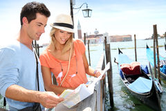 People traveling in Venice Royalty Free Stock Image