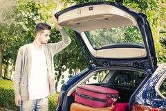People travelling by car Stock Photography