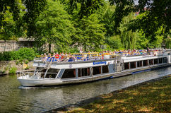 People travelling on the See with a hop-on hop-off boat Royalty Free Stock Photography