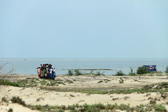 People travelling to Dhanushkodi Stock Images