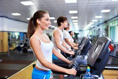 People on the treadmill Stock Photos