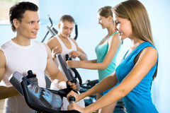 People on the treadmill. Fitness Stock Image