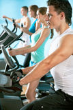 People on the treadmill. Fitness Royalty Free Stock Image
