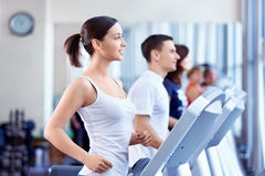 People on treadmills Stock Photography