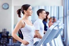 People on treadmills Stock Photography