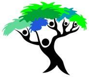 People tree. Isolated line art image vector illustration