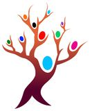 People tree. Isolated illustrated people tree cartoon image Stock Photography