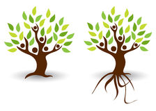 People tree. Illustration of people tree design isolated on white background