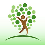 People tree icon Royalty Free Stock Photography