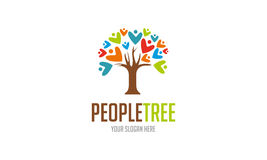 People Tree Logo. Minimalist and modern people tree vector logo template. Simple work and adjusted to suit your needs Stock Photos