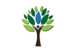 People Tree Logo Royalty Free Stock Photo