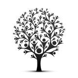 People tree sign color black. People tree sign color black on the white background. Vector illustration royalty free illustration