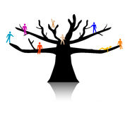 People in treetop Royalty Free Stock Photos