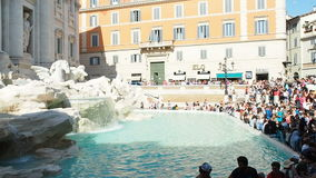 People at Trevi Fountain in Rome Italy. Rome, Italy - June 2016: People at Trevi Fountain in Rome Italy stock video footage